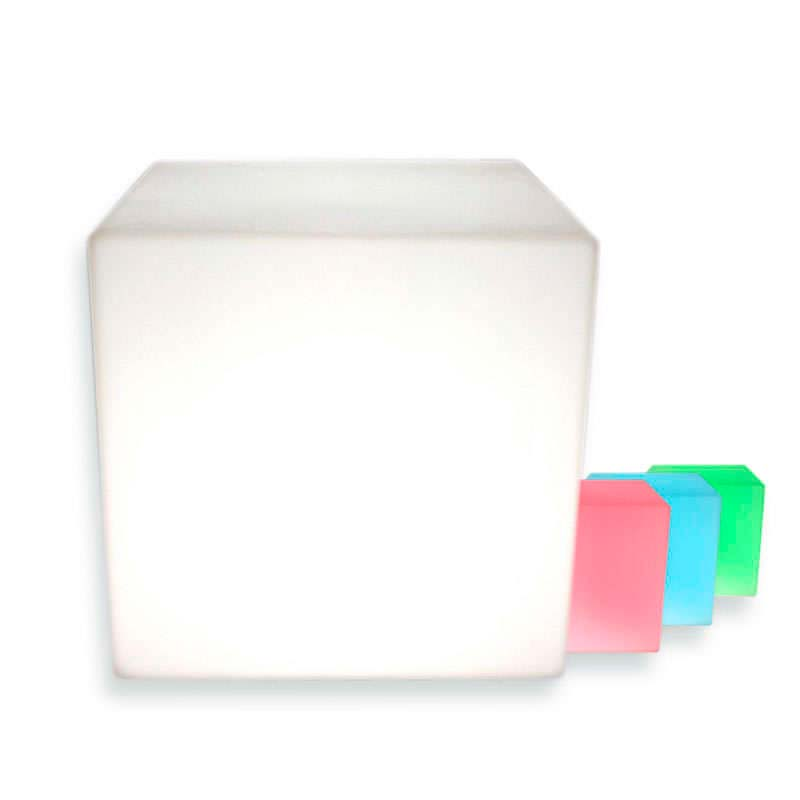 Cubo luminoso led BIG KUB RGBW recargable, RGB + Blanco frió
